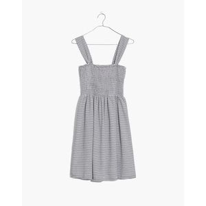 Madewell Texture & Thread Smocked Dress in Stripe
